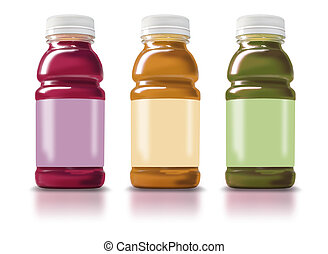 Smoothie Bottles - Photo illustration of 3 Fruit Smoothie...