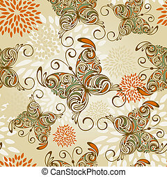 vector seamless pattern with hand drawn butterflies and...