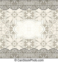 vector background with seamless pattern, lacy borders, and frame for your text, in vector version you can use elements separately, eps 10