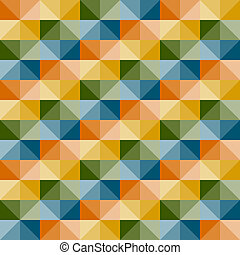 vector seamless geometric pattern with 3d illusion - vector...