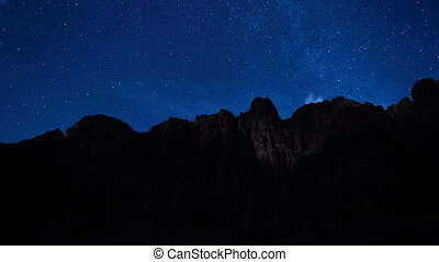 Stars, Moon and the Grand Canyon - A time-lapse view of...