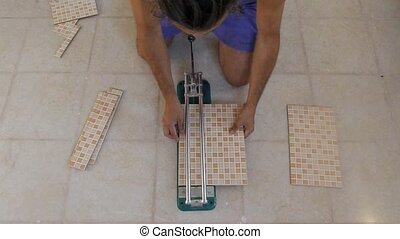 cutting tiles - tiling tool, cutting tiles wide angle