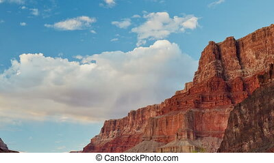 Time-lapse of Grand Canyon valley - A zooming-out view of...