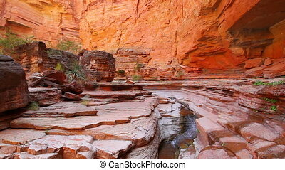 Serene waterfall in Grand Canyon - A calm and serene...