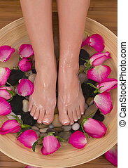 Valentine Spa - Being pampered by beautiful aromatic pink...
