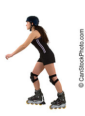 Skater - A teenage girl roller blading