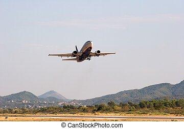 Airplane's takeoff