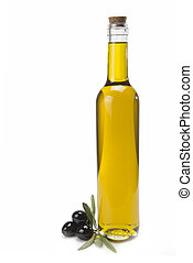 Olive oil bottle. - A classical glass bottle of olive oil...