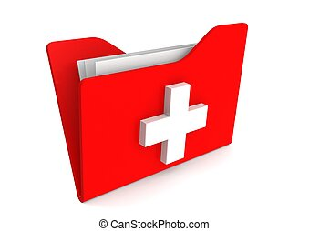 Medical record - Rendered artwork with white background
