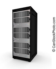 Server pc. Isolated on white background. 3d rendered.