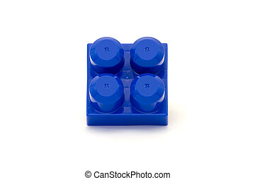 Toy building block - Isolated shot of a toy building block...
