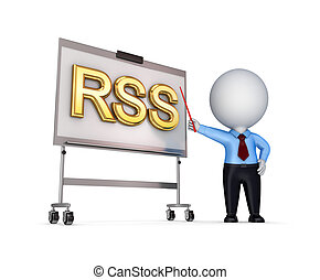 RSS conceptIsolated on white background3d rendered...