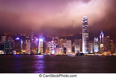 Hong Kong Night View, Famous Tourist Destination