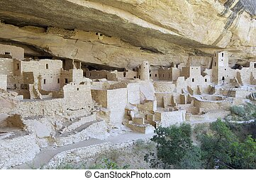 Mesa Verde - Cliff Palace in Mesa Verde National Park,...