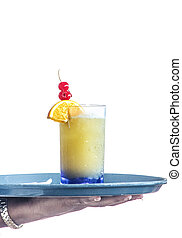 Fruity Drink Being Served