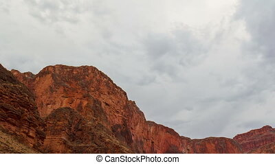 Cloudy sky over Grand Canyon