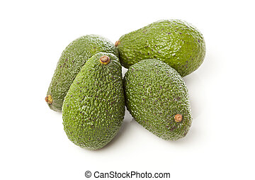Organic Green Avocado - A fresh Organic Green Avocado on a...