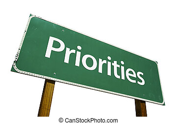 Priorities road sign isolated on a white background....