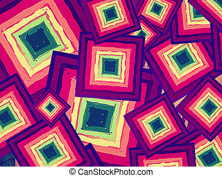 color squares - vintage background drawn different color...