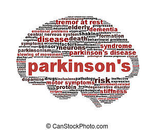 Parkinson's disease symbol isolated on white. Mental health...