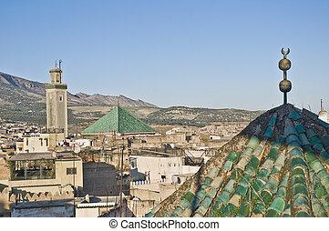 Kairaouine mosque at Fez, Morocco - Kairaouine mosque...