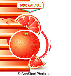 Background with fresh grapefruit