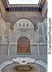 Misbahiya medersa at Fez, Morocco - Misbahiya medersa main...
