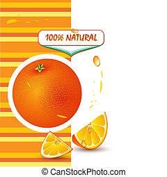 Background with fresh orange