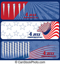 July 4 Independence Day - Banner July 4 Independence Day