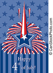Happy Independence Day with stars.