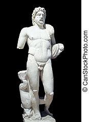 estátua, Poseidon, -, Deus, mar