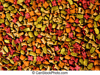 dry pets food background - an image of dry pets food...