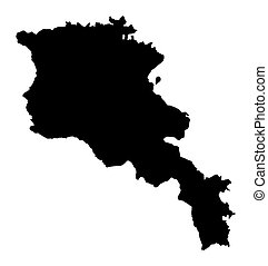 map of Armenia
