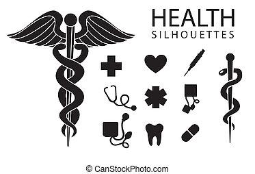 salud, iconos