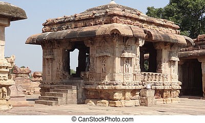 temple at Pattadakal - historic temple at Pattadakal in...