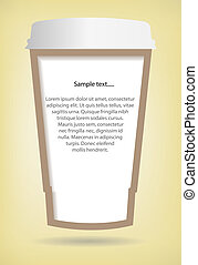 Coffee cup paper - Take away paper coffee cup, eps10 vector