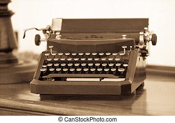 retro, skrivmaskin