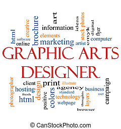 Graphic Arts Designer Word Cloud Concept with great terms...