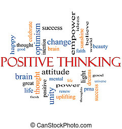 Positive Thinking Word Cloud Concept with great terms such...
