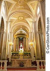 Cathedral Mexcio Interior - Main Cathedral Morelia Mexico...
