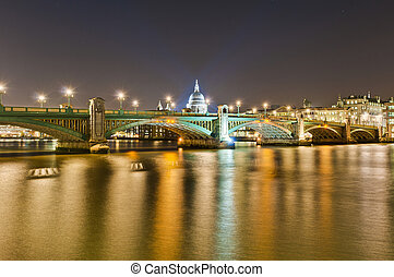 Blackfriars Bridge at London, England - Blackfriars Bridge...