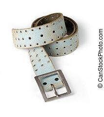 leather belt i - men's leather belt isolated on white