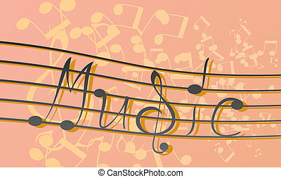 "music - note-style Word ""music"""