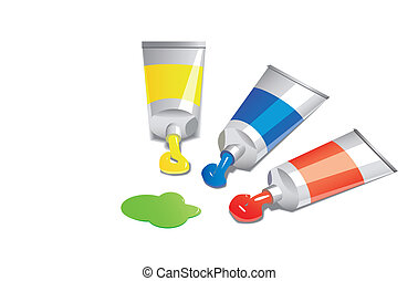 paint - illustration of tubes with paint