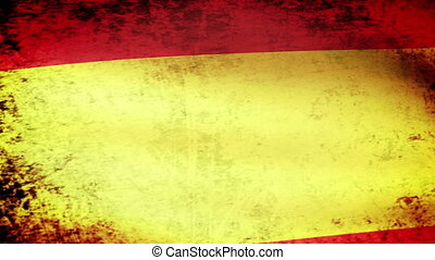 Spain Flag Waving, grunge look