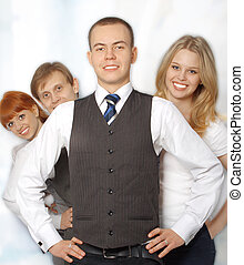 Group of happy business people - Portrait of a group of...