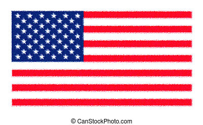 Flag of the USA United States of America - sprayed
