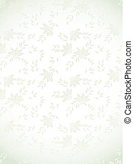 Silver floral background. Vector