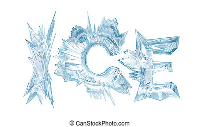 Ice Ice crystal letters - Ice crystal letters The Word - Ice...