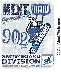 extreme snow boarder
